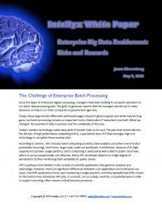 Enterprise Big Data Enablement: Risks and Rewards
