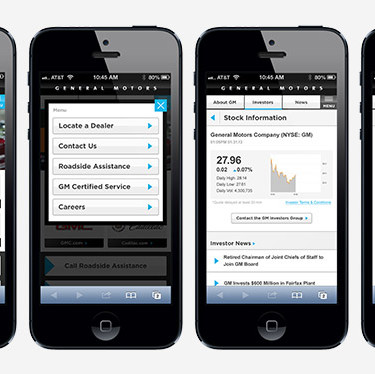 General Motors mobile application, built by McCann Detroit