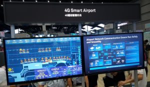Huawei 4G Smart Airport demonstration at Connect 2016