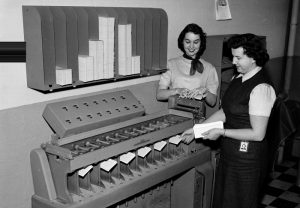 Data processing back in the day.