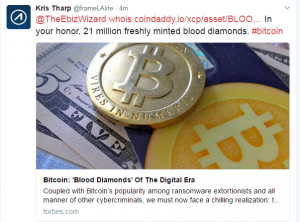 What should we use BLOODDIAMONDs for? New Bitcoin asset in response to Forbes article.