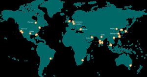 Aryaka's Global POP Footprint