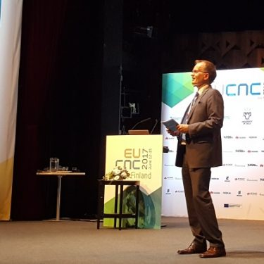 Pekka Soini, Director General and CEO of Tekes, speaking at the European Conference on Networks and Communications (EuCNC 2017) in Oulu, Finland.