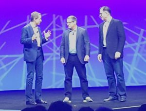Pat Gelsinger, CEO of VMware; Rob Mee, CEO of Pivotal; and Michael Dell, CEO of Dell Technologies and Chairman of the Board, VMware