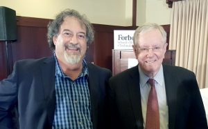 Jason Bloomberg (L) and Steve Forbes