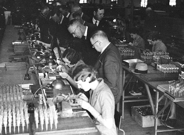 Factory workers, 1936.