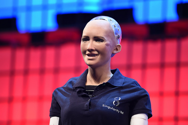 Sophia the Robot at Web Summit 2017