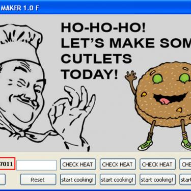 Cutlet Maker user interface.