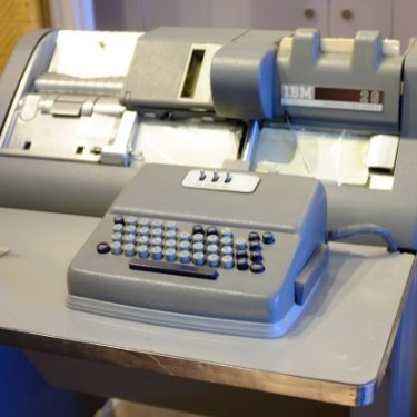 A keypunch machine: digitization technology from the last century.