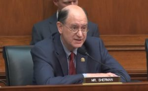 """Brad Sherman (D-CA) commenting before the Subcommittee on Monetary Policy and Trade (Committee on Financial Services) Hearing: """"The Future of Money: Digital Currency"""" on July 18, 2018."""