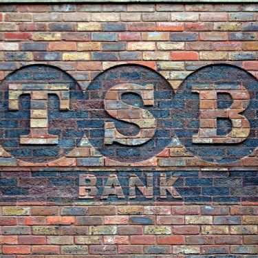 The TSB logo, hearkening back to better days for the bank.