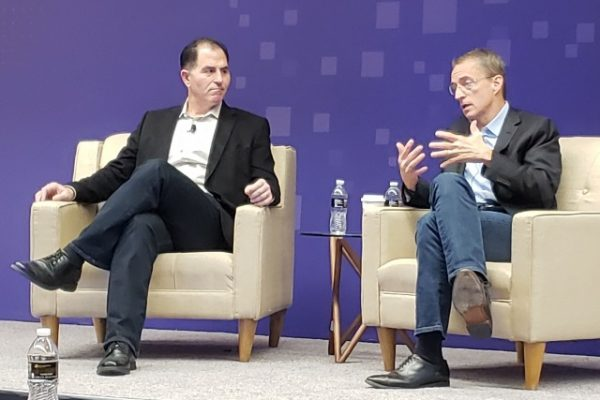 Dell Chairman and CEO Michael Dell (left) and VMware CEO Pat Gelsinger