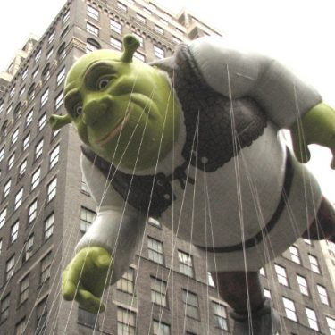 DreamWorks' Shrek balloon at the Macy's Thanksgiving Parade, 2009